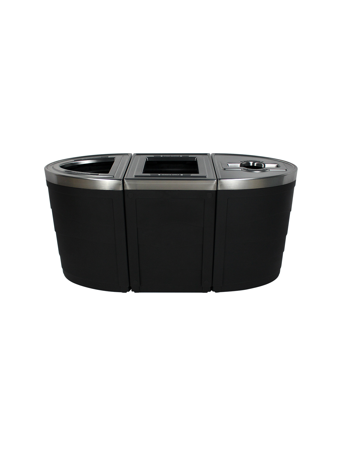 EVOLVE - Triple - Compostables-Waste-Recyclables - Full-Mixed - Black