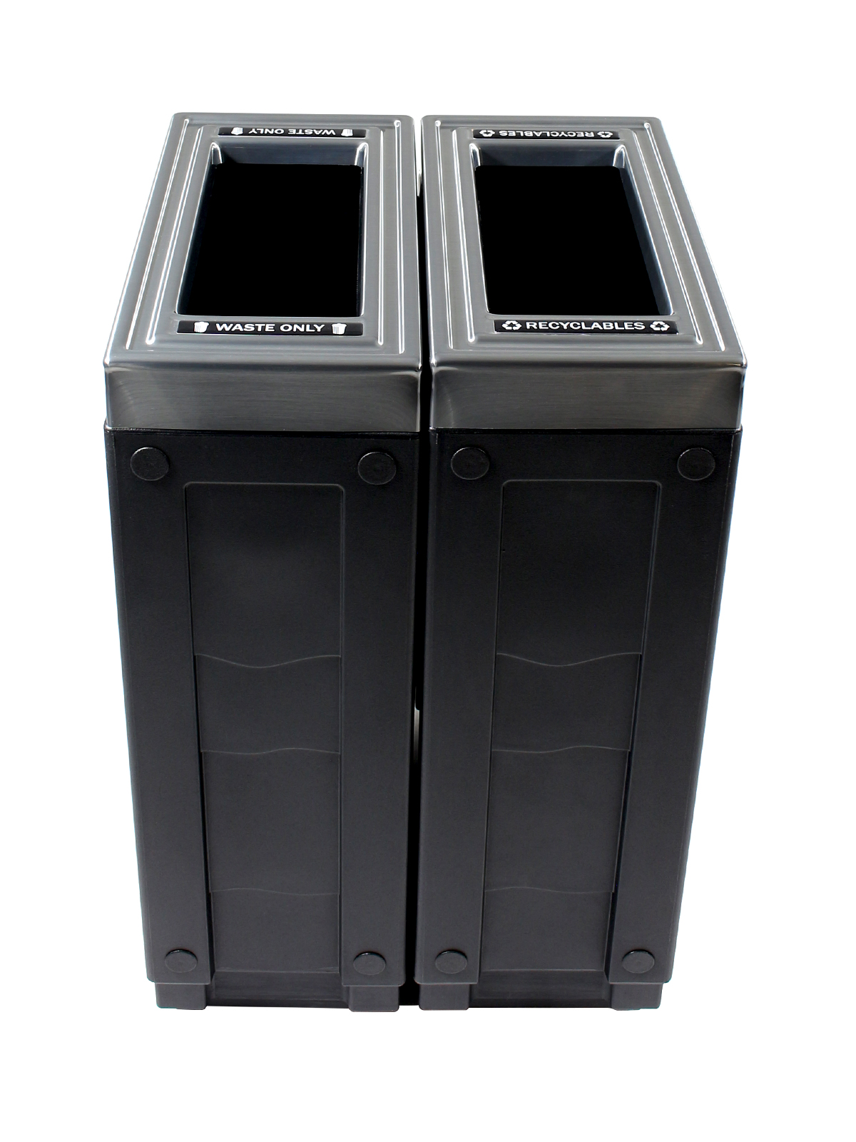 EVOLVE - Double - Recyclables-Waste - Full - Black