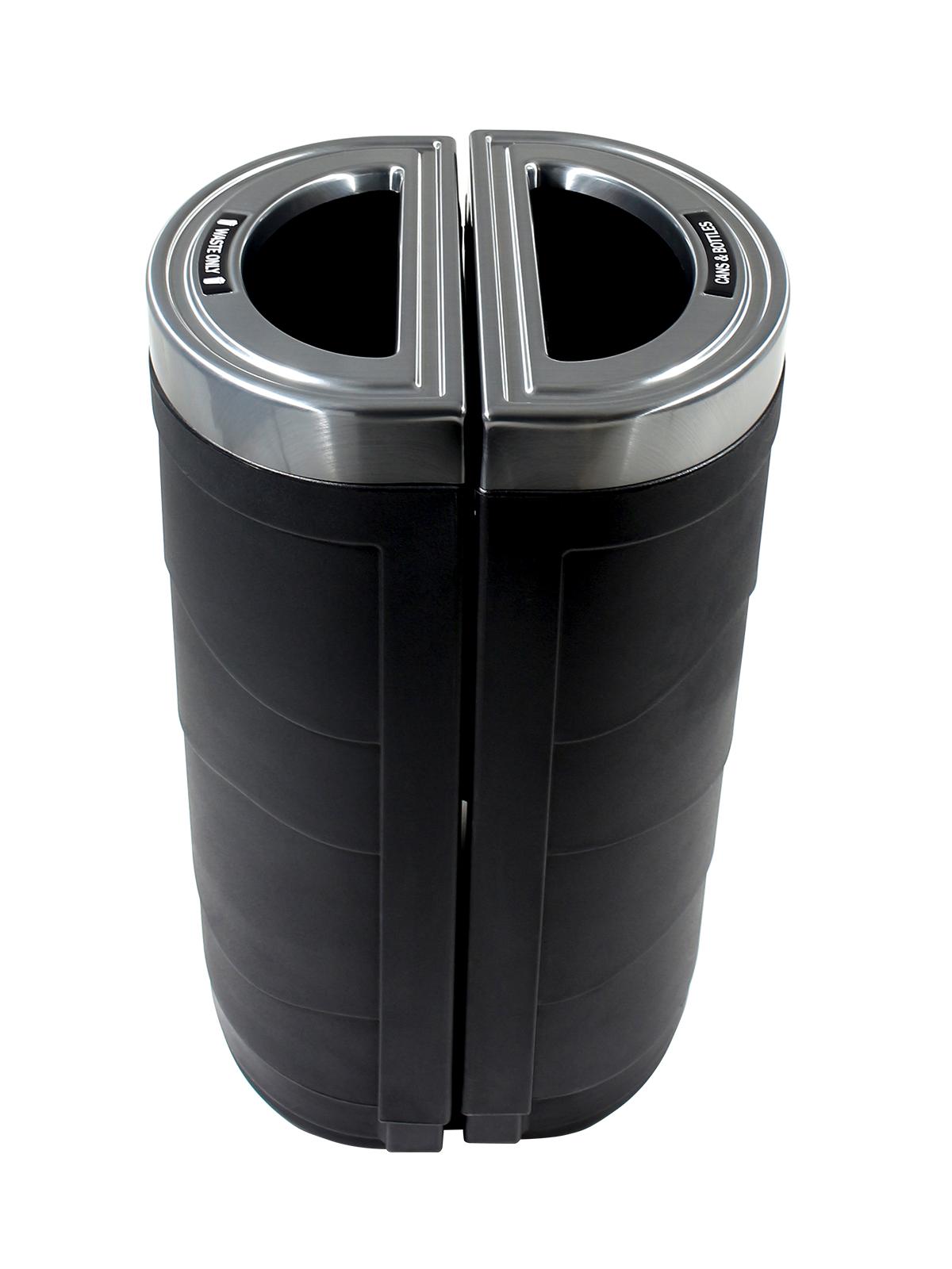 EVOLVE - Double - Cans & Bottles-Waste - Full - Black