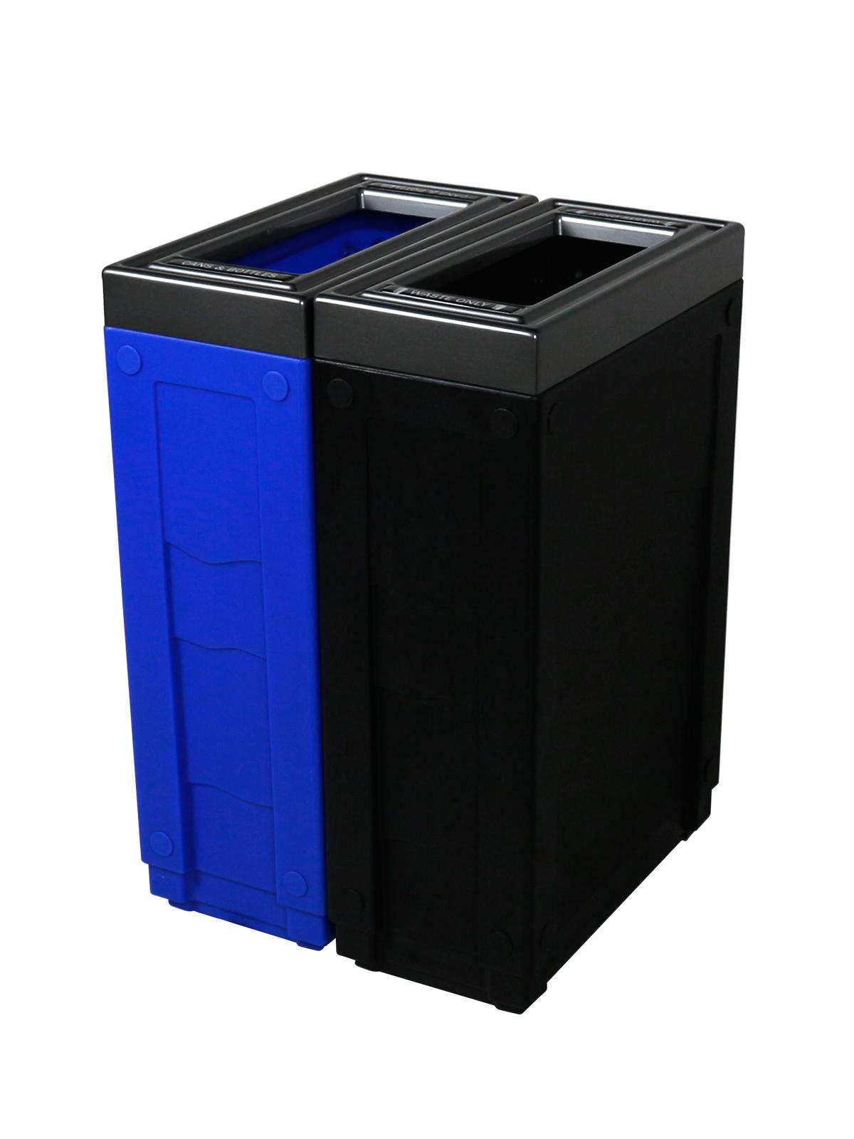 EVOLVE - Double - Cans & Bottles-Waste - Full - Blue-Black