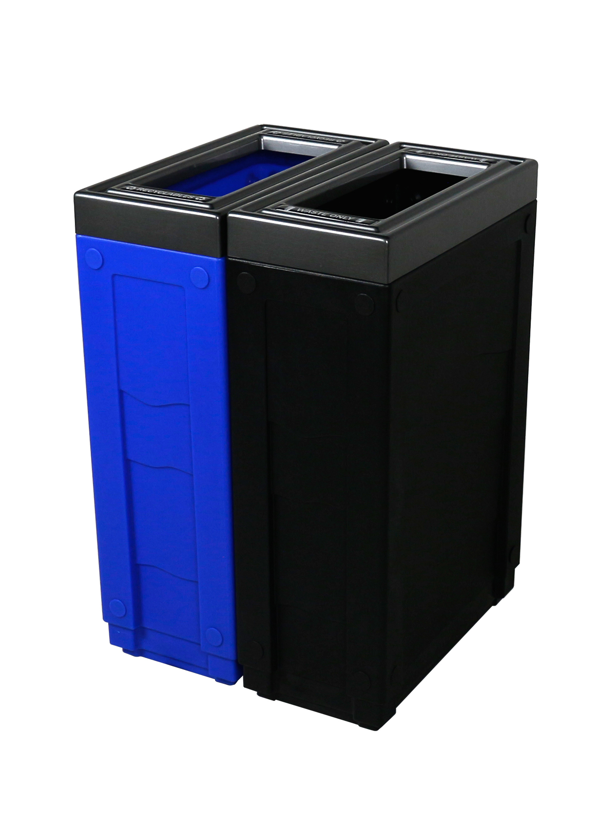 EVOLVE - Double - Recyclables-Waste - Full - Blue-Black