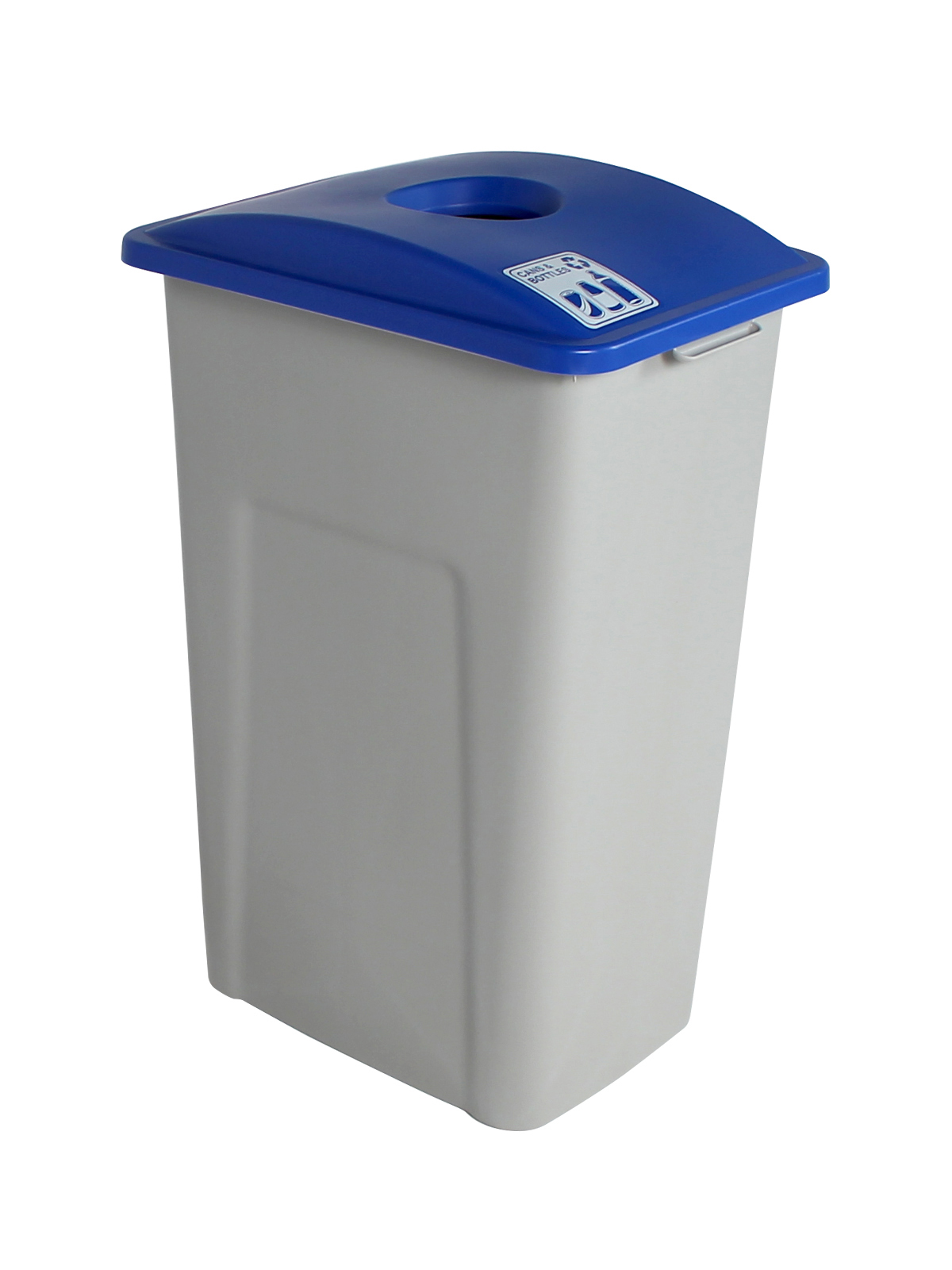 WASTE WATCHER XL - Single - Cans & Bottles - Circle - Grey-Blue
