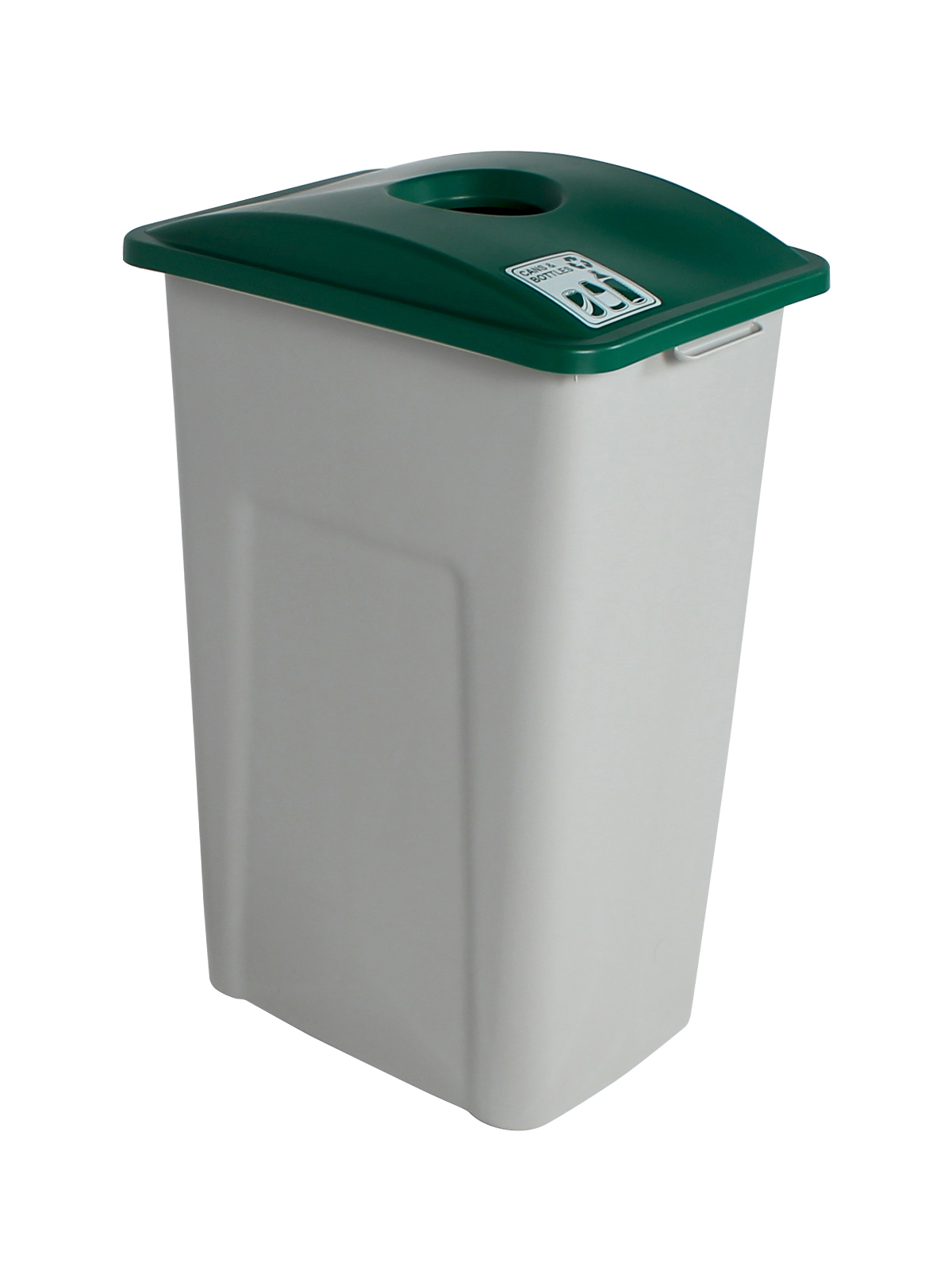 WASTE WATCHER XL - Single - Cans & Bottles - Circle - Grey-Green