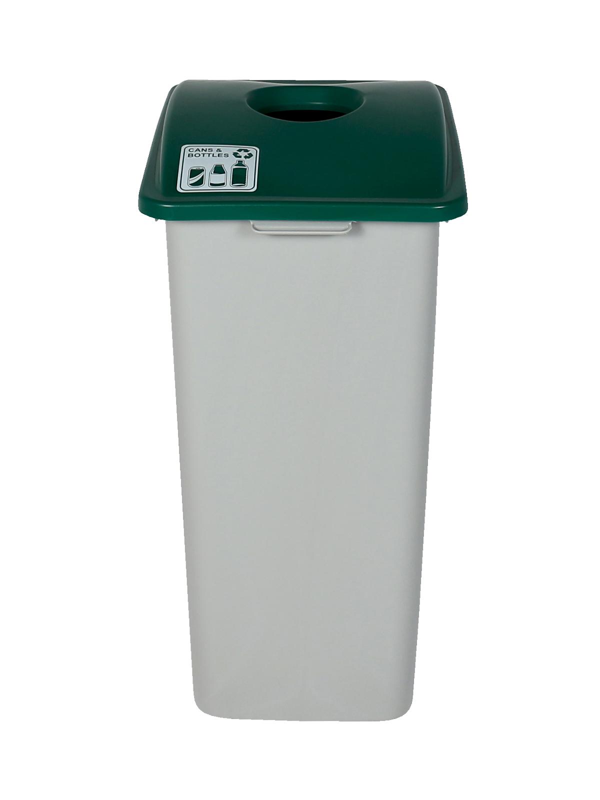 WASTE WATCHER XL - Single - Cans & Bottles - Circle - Grey-Green