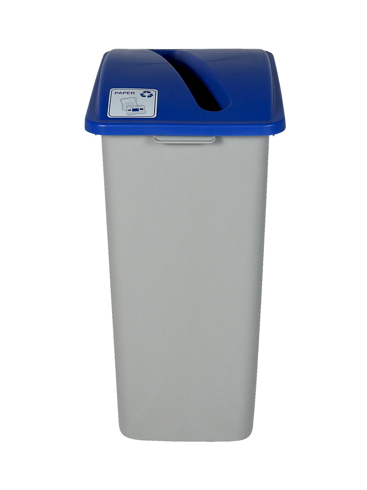 WASTE WATCHER XL - Single - Paper - Slot - Grey-Blue