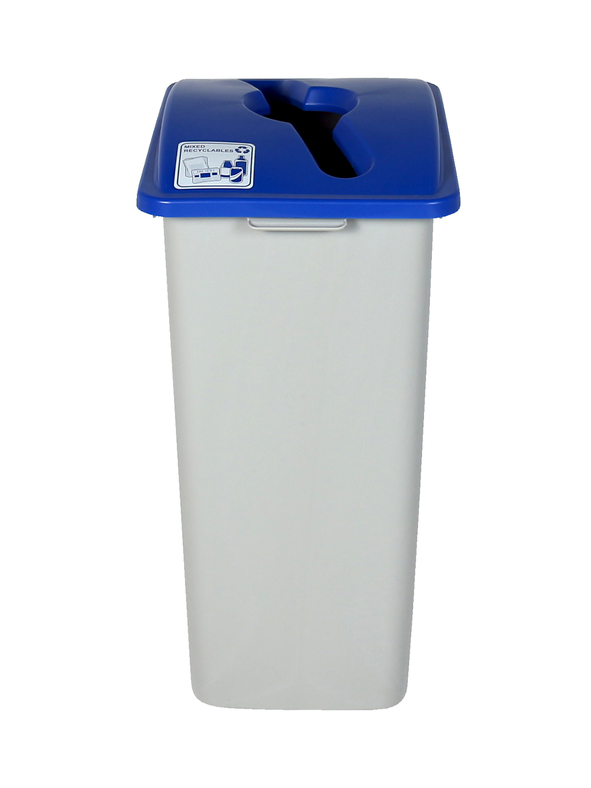 WASTE WATCHER XL - Single - Mixed Recyclables - Mixed - Grey-Blue