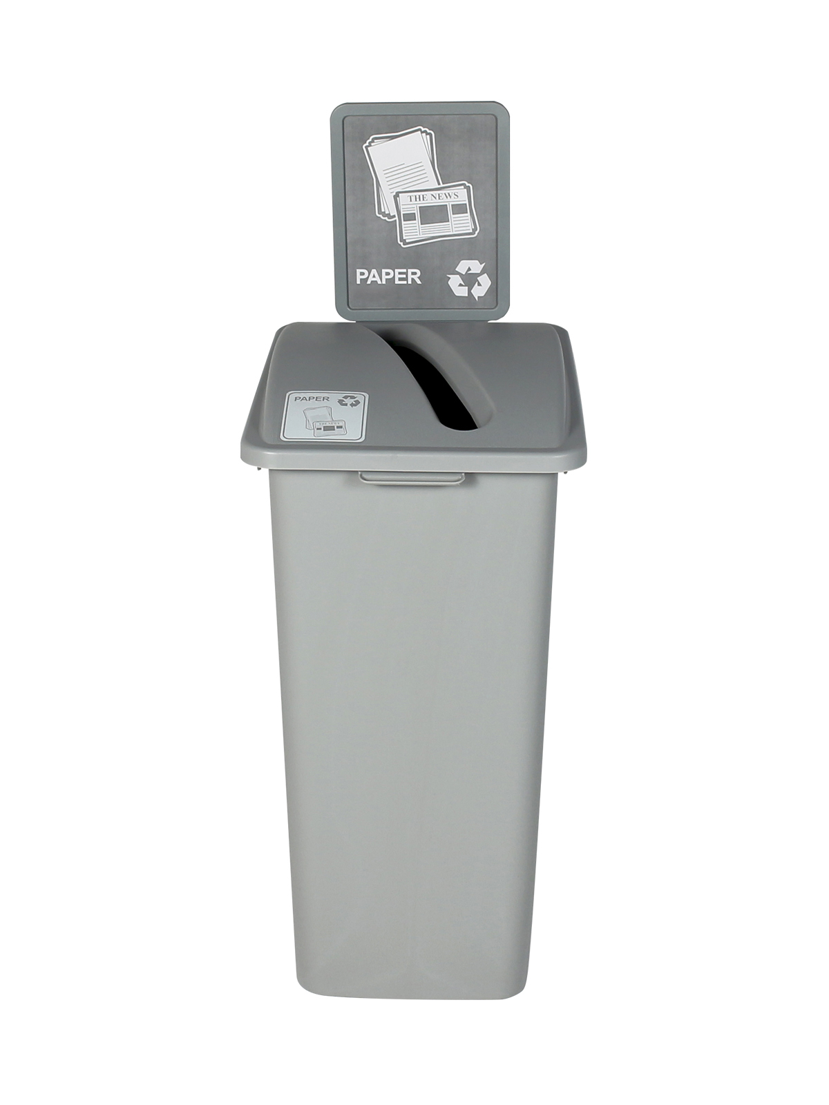 WASTE WATCHER XL - Single - Paper - Slot - Grey