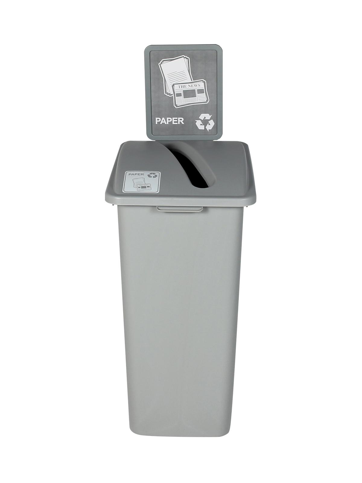WASTE WATCHER XL - Single - Paper - Slot - Grey