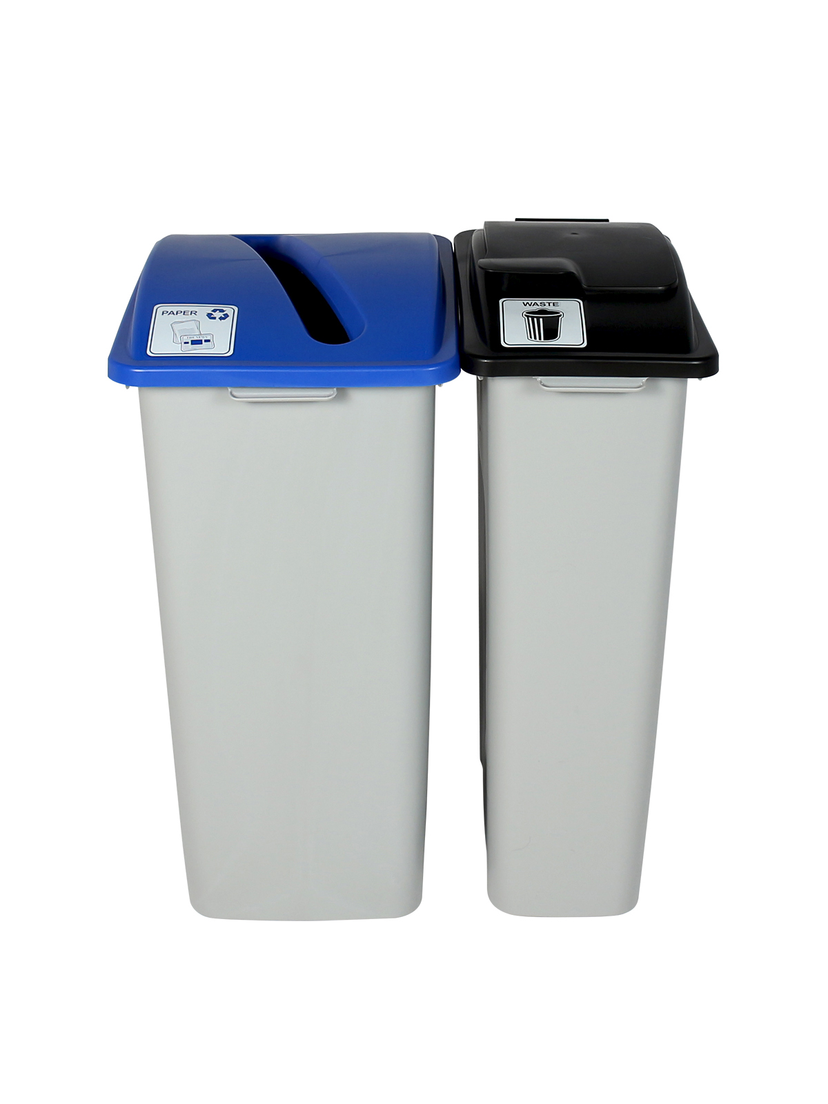 WASTE WATCHER XL - Double - Paper-Waste - Slot-Solid Lift - Grey-Blue-Black