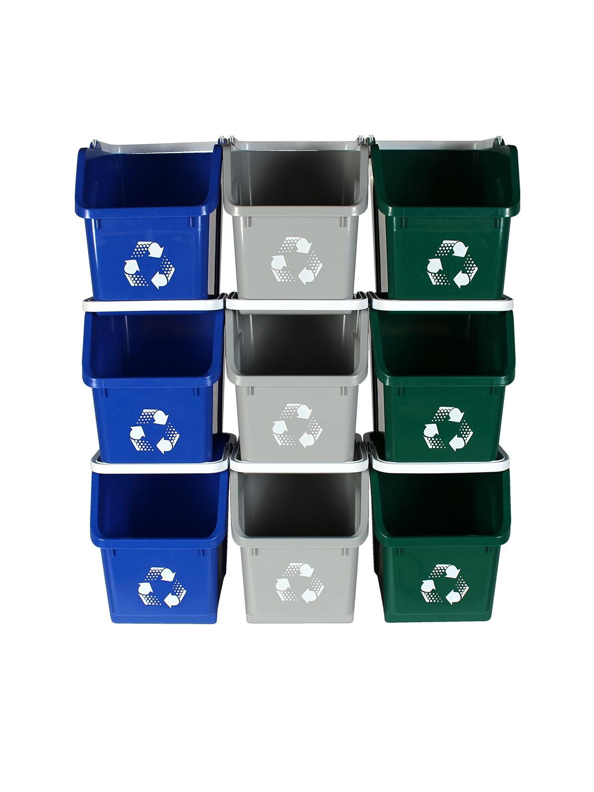MULTI RECYCLER (9 Pack) - Triple - Mobius Loop - Full - Blue-Grey-Green