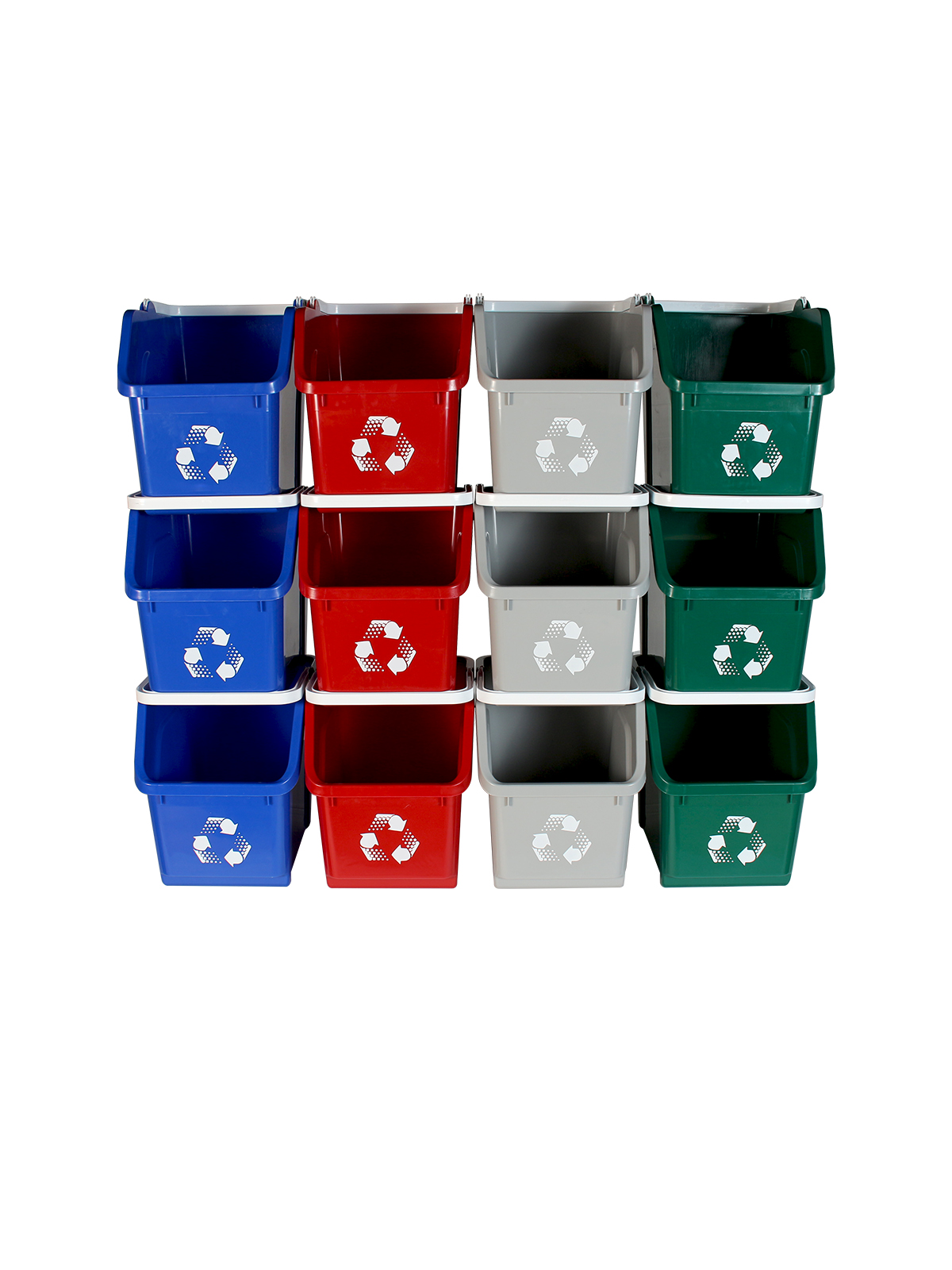 MULTI RECYCLER (12 Pack) - Quad - Mobius Loop - Full - Blue-Grey-Green-Red
