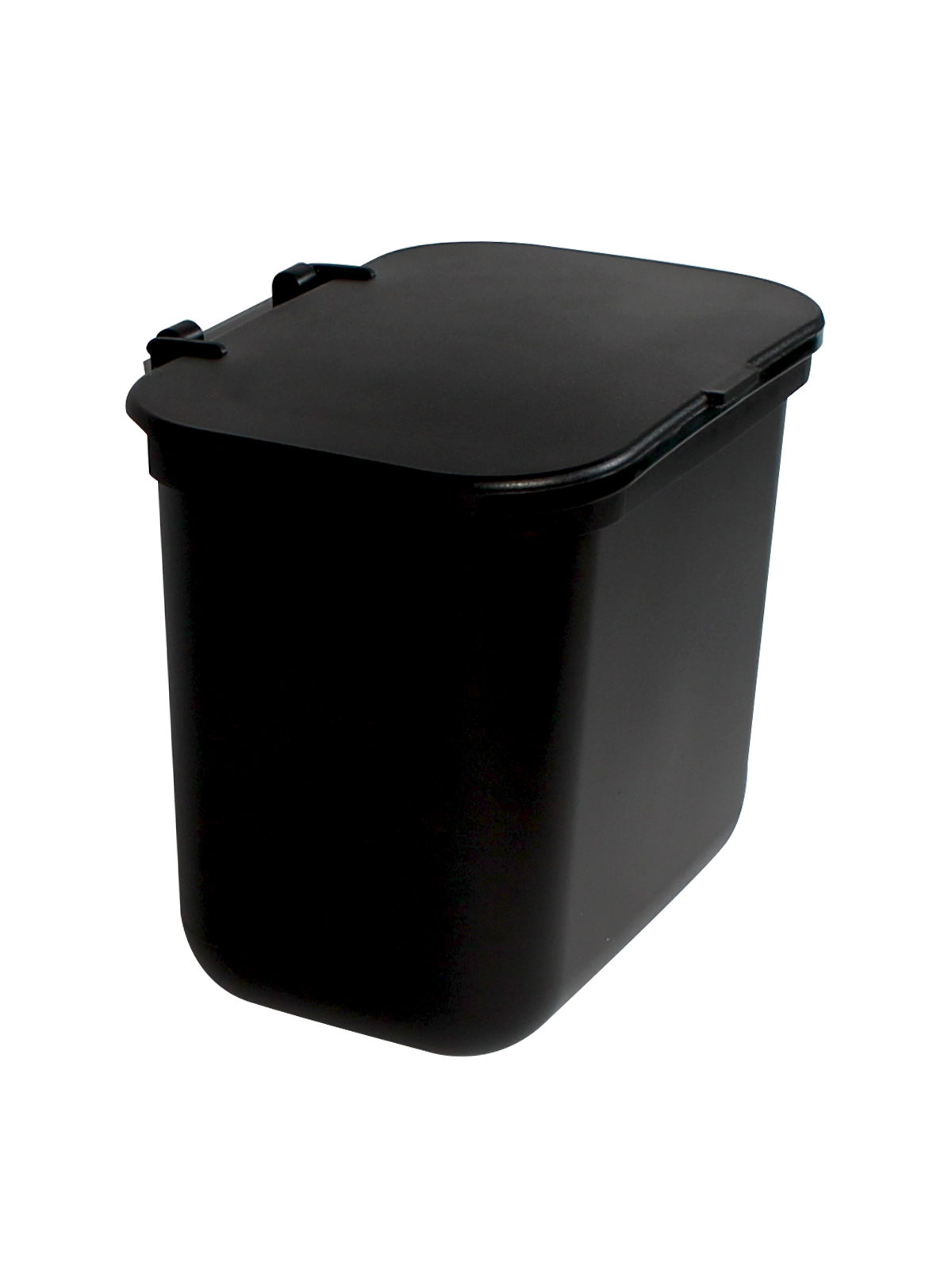 KIT HANGING WASTE BASKET W/ LID - BLK BLANK LID