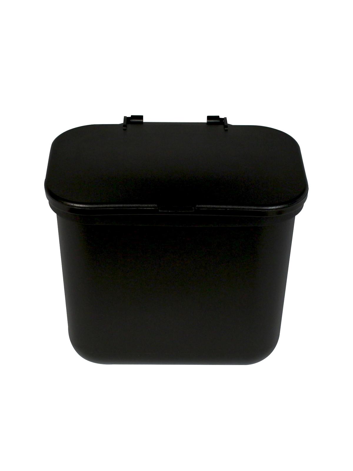 HANGING WASTE BASKET - Single - Solid Lift - Black