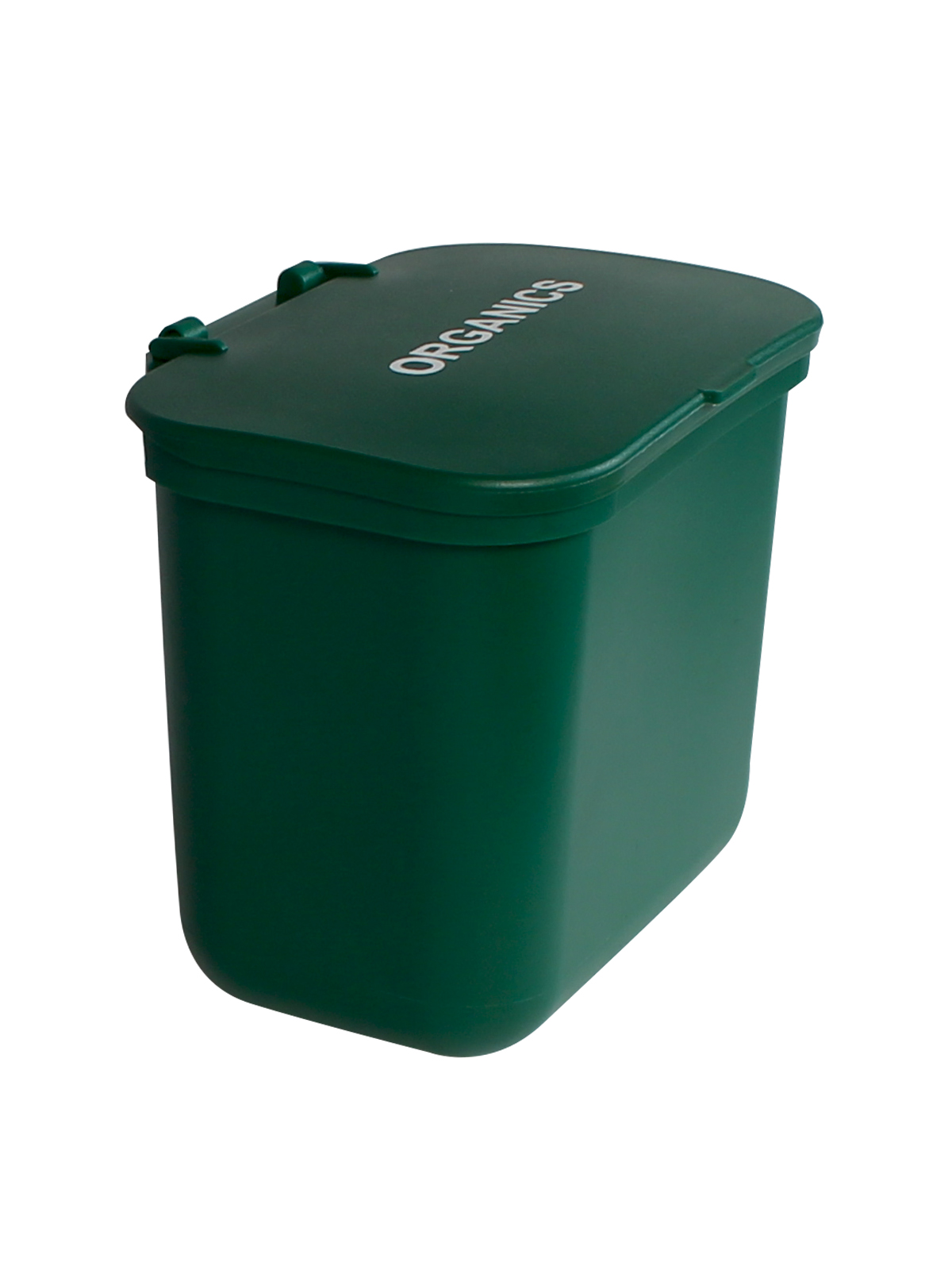 KIT HANGING WASTE BASKET W/ LID - GRN