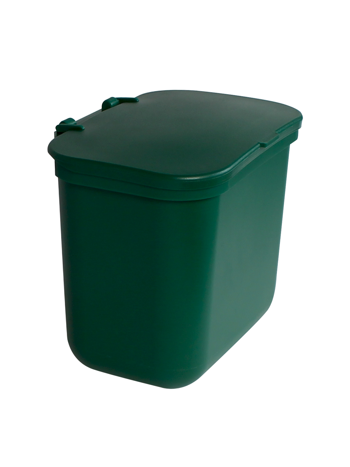 KIT HANGING WASTE BASKET W/ LID - GRN BLANK LID