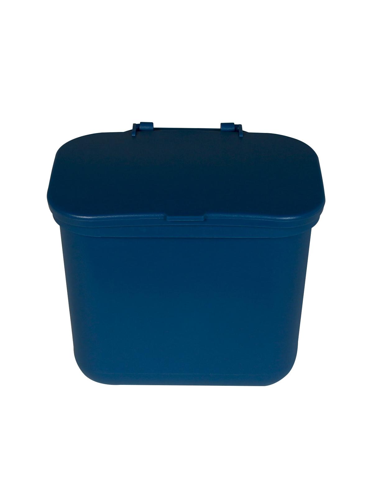 HANGING WASTE BASKET - Single - Solid Lift - Blue