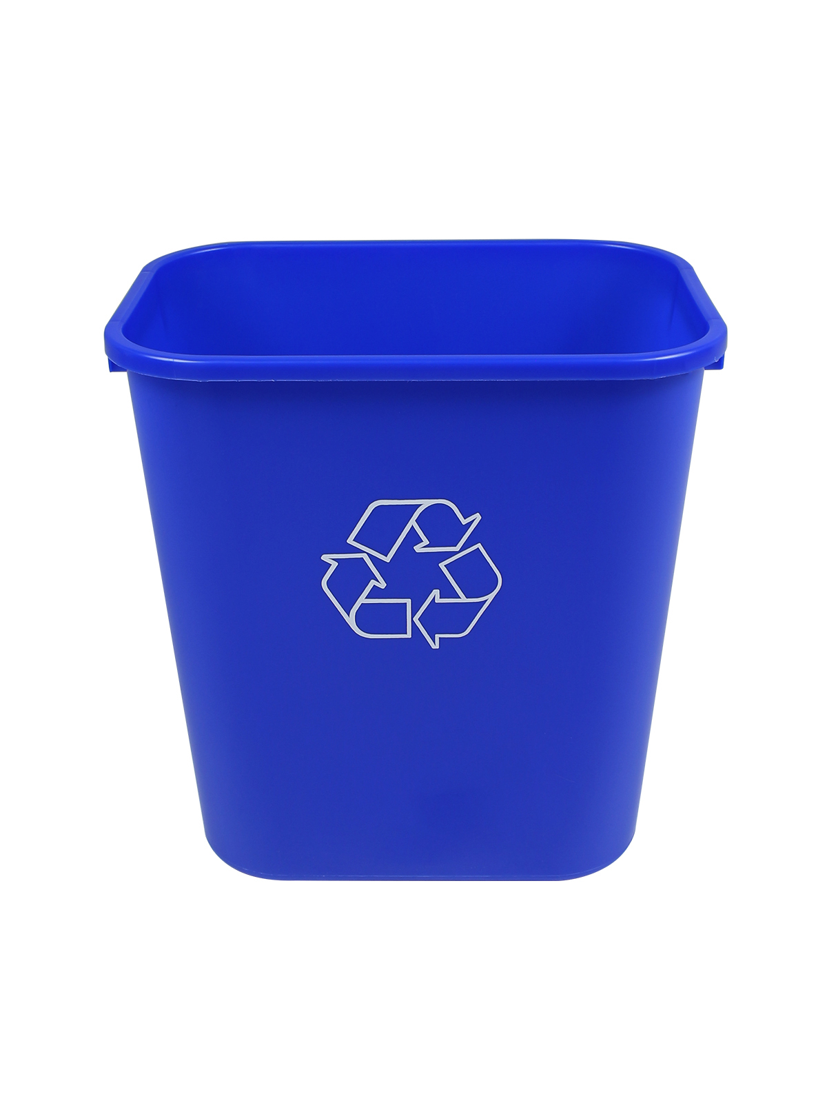 RECYCLING & WASTE BASKET (12 Pack) - Single - 28 Q - Mobius Loop - Full - Blue