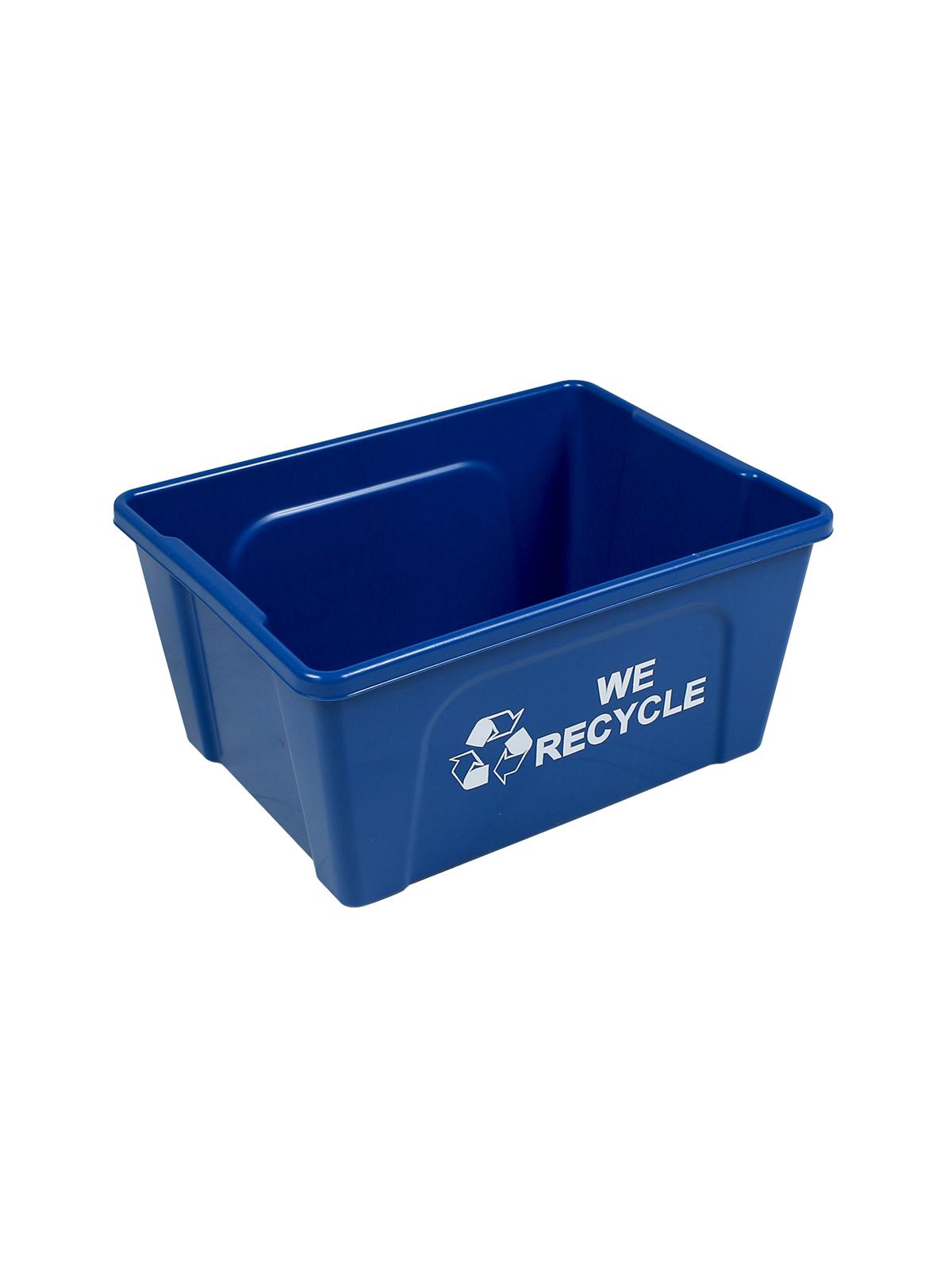 DESKSIDE RECYCLER (12 Pack) - Single - Mobius Loop-We Recycle - Blue