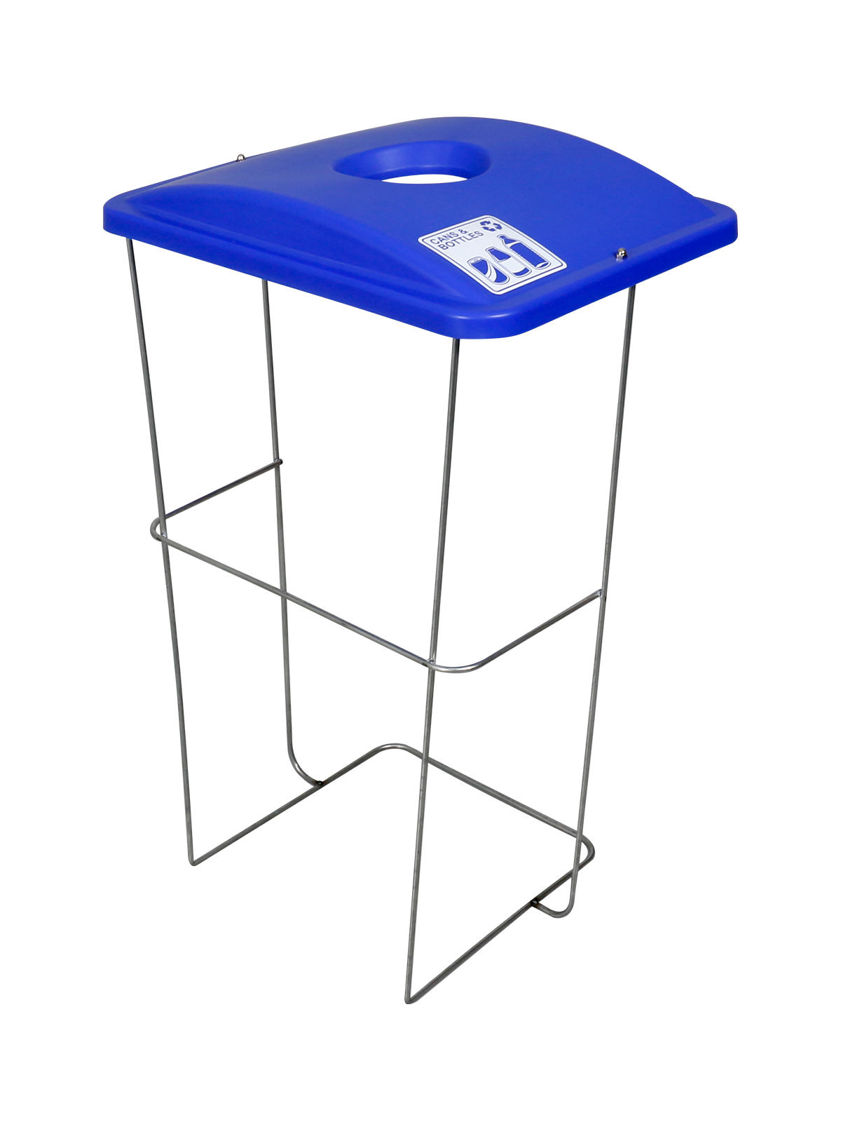 WIRE EVENT CONTAINER (5 Pack) - Single - Cans & Bottles - Circle - Blue