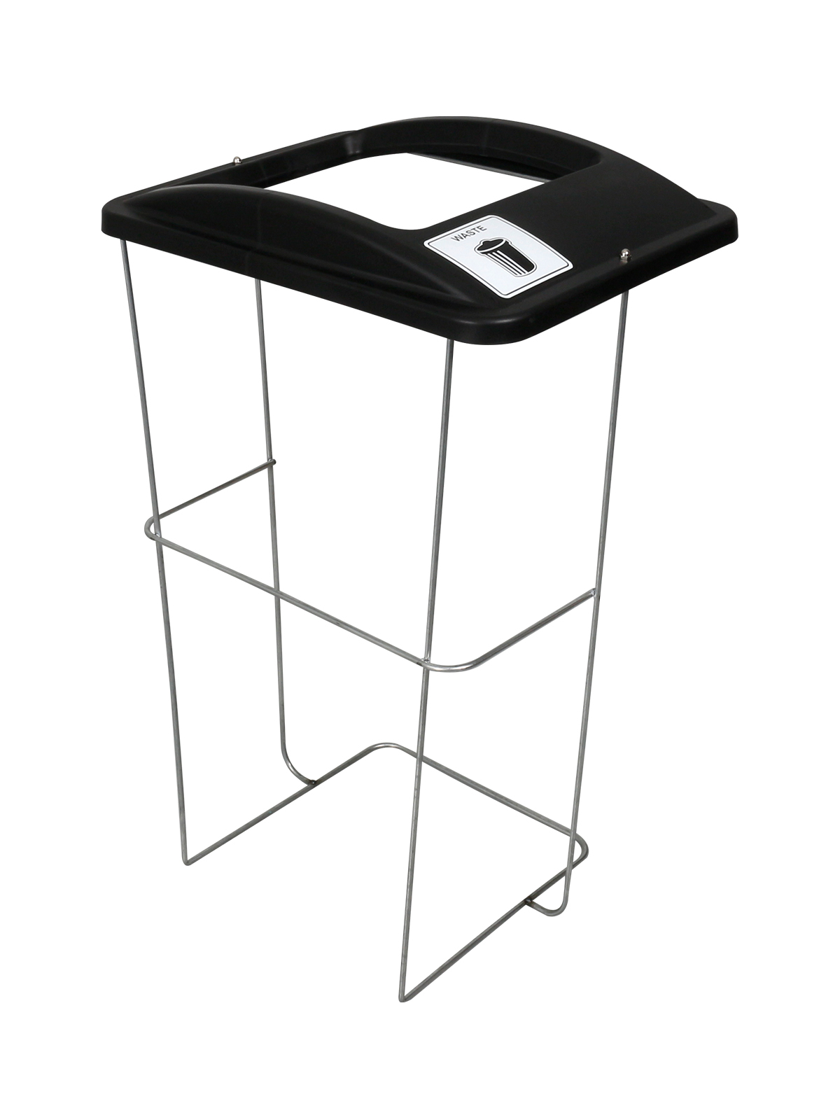 WIRE EVENT CONTAINER (5 Pack) - Single - Waste - Full - Black