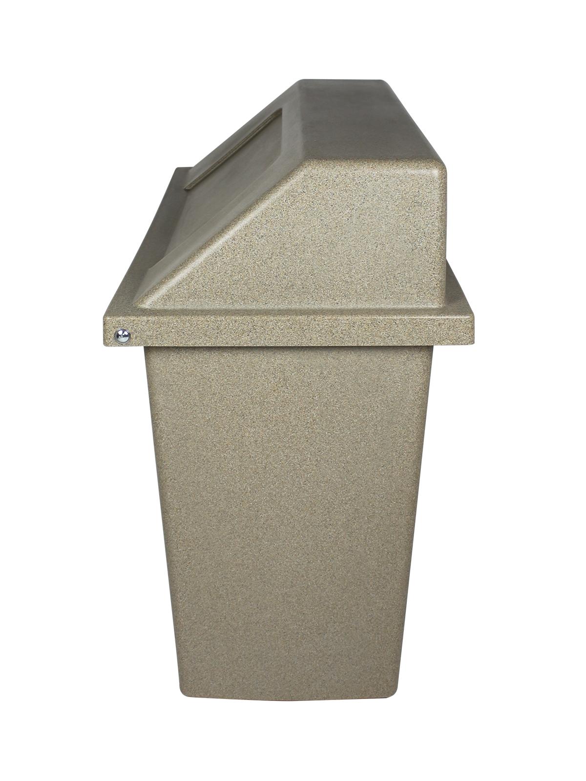 SUPER SORTER - Triple - Cans & Bottles-Paper-Waste - Circle-Slot-Full - Sandstone