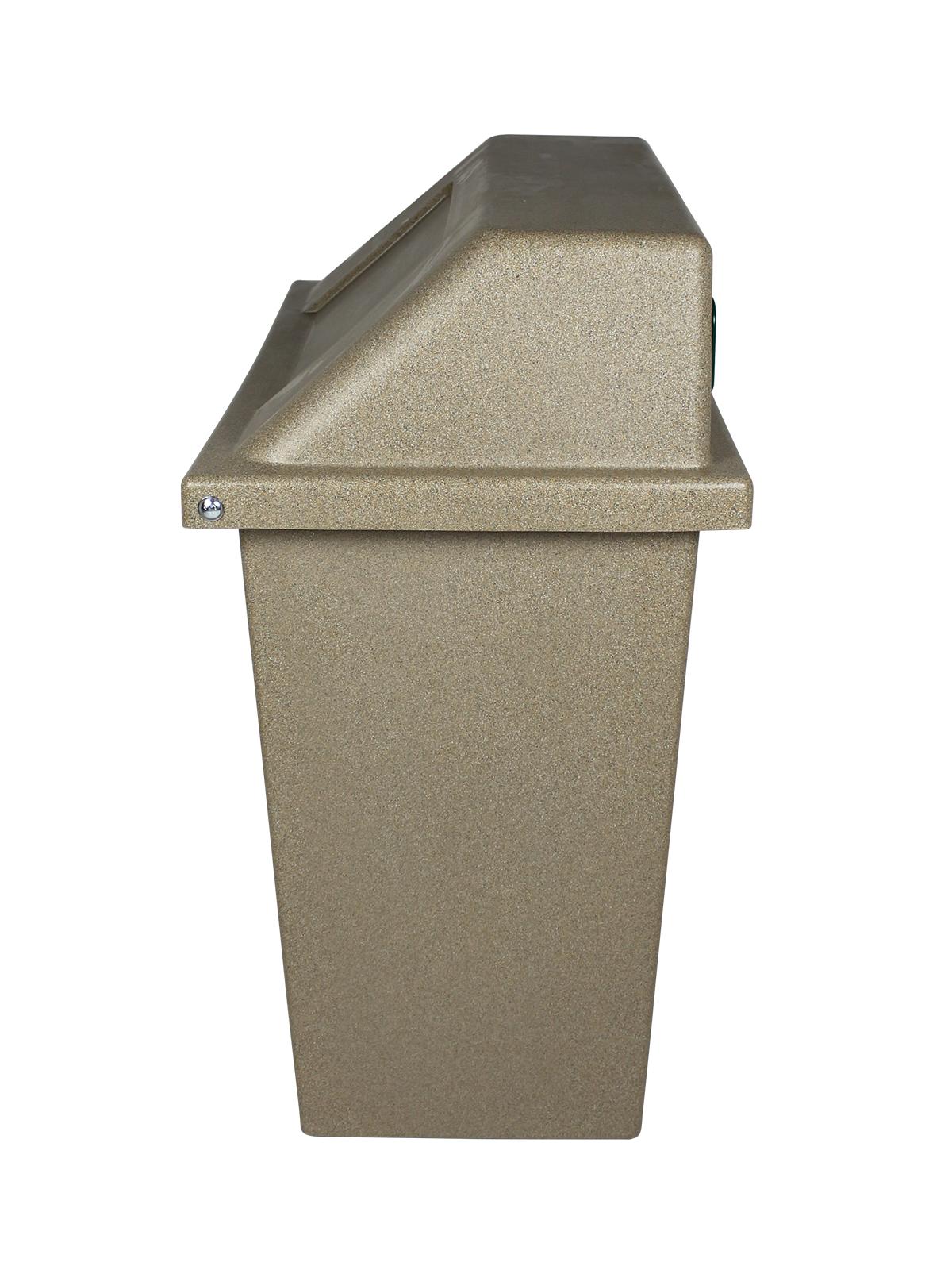 SUPER SORTER - Triple - Hd - Cans & Bottles-Paper-Waste - Circle-Slot-Full - Sandstone
