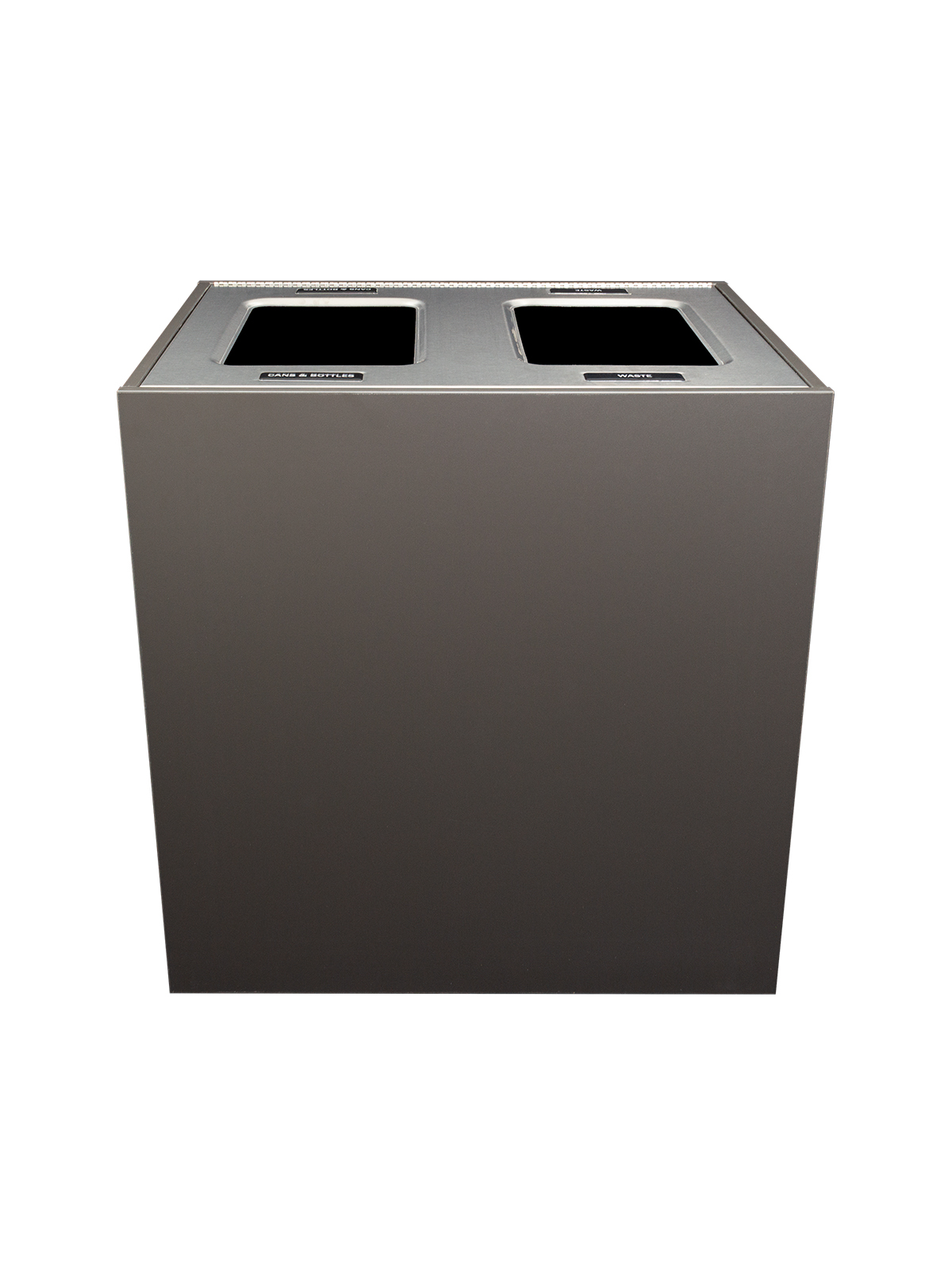 ARISTATA - Double - Unit - Xl - Cans & Bottles-Waste - Full - Slate-Stainless Steel