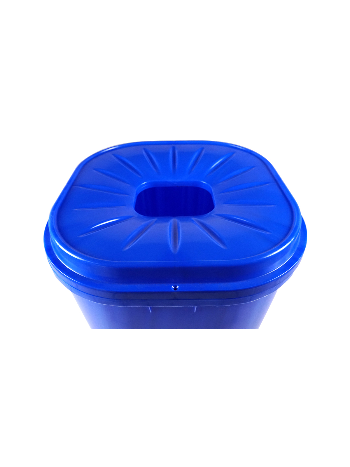 55 GALLON - Single - Unit - Recycling Bin - Full - Blue