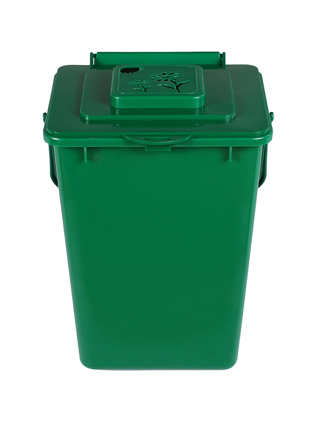 KITCHEN COMPOSTER - Single - Unit - 2 - Vented Lift - Compost Green