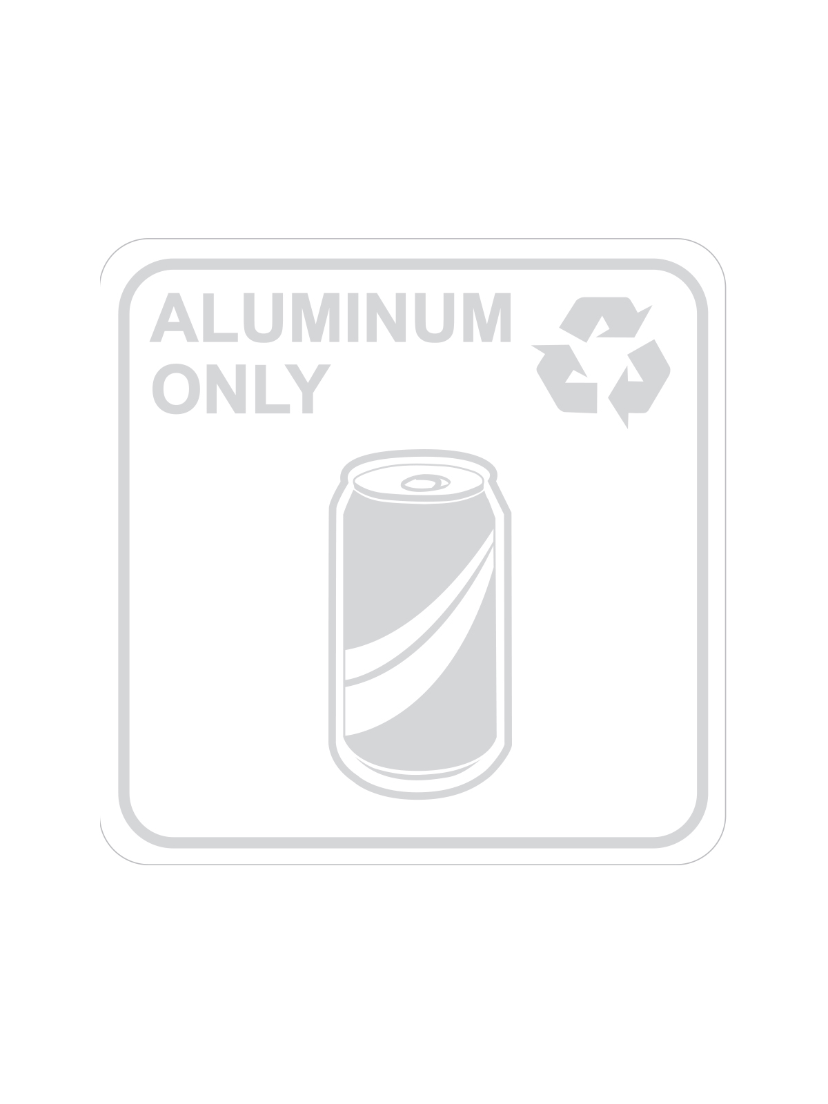 SQUARE LABEL ALUMINUM ONLY