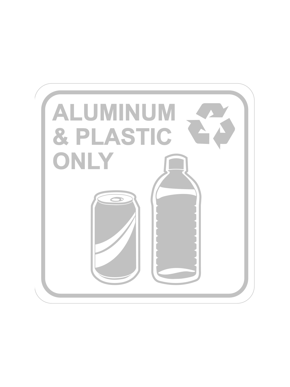 SQUARE LABEL ALUMINUM & PLASTIC ONLY