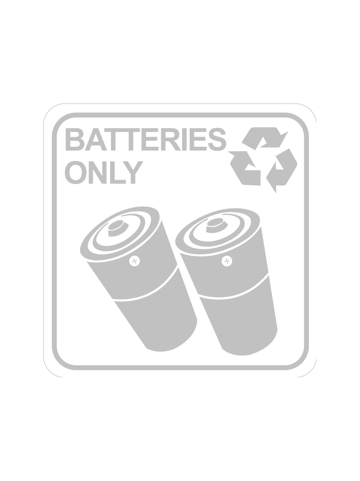 SQUARE LABEL BATTERIES ONLY