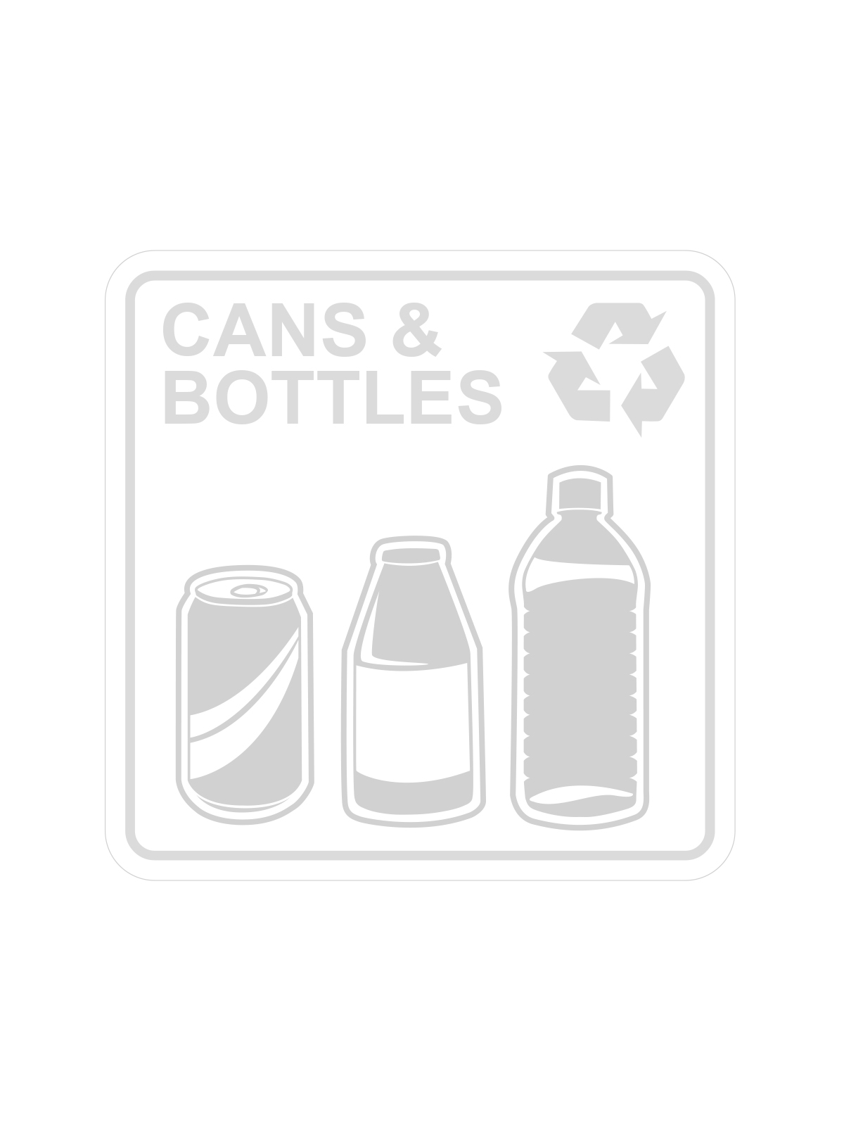 SQUARE LABEL - CANS & BOTTLES ONLY - CLEAR | WHITE - CANS & BOTTLES ONLY