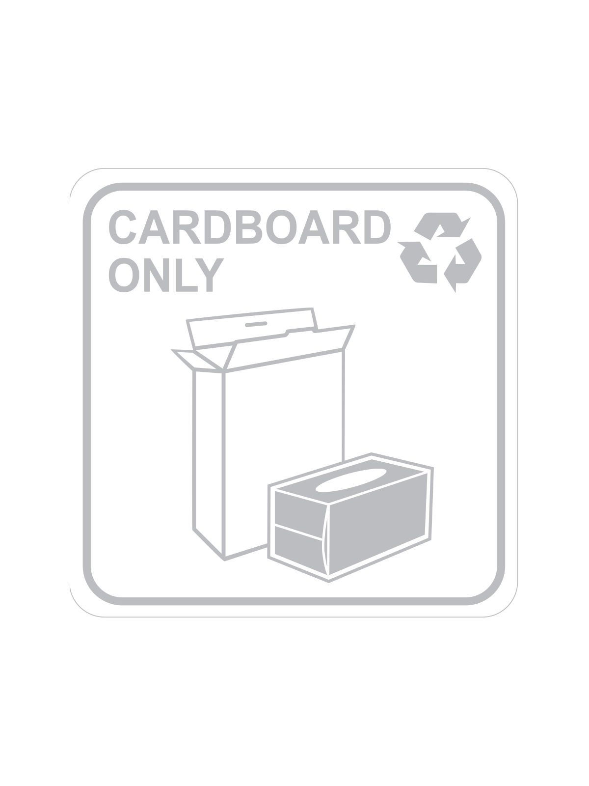 SQUARE LABEL CARDBOARD ONLY