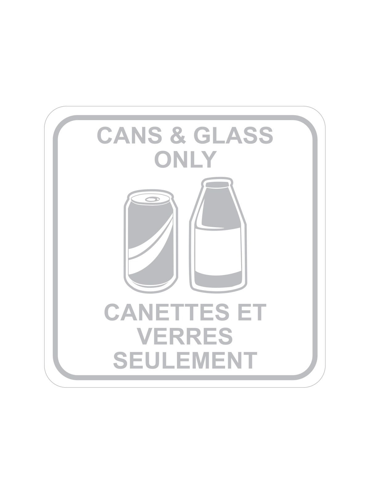 SQUARE LABEL CANS & GLASS ONLY - ENG/FRE title=