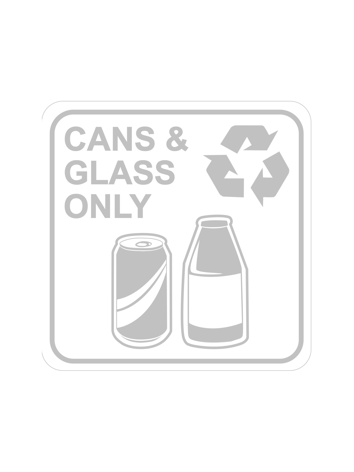 SQUARE LABEL CANS & GLASS ONLY