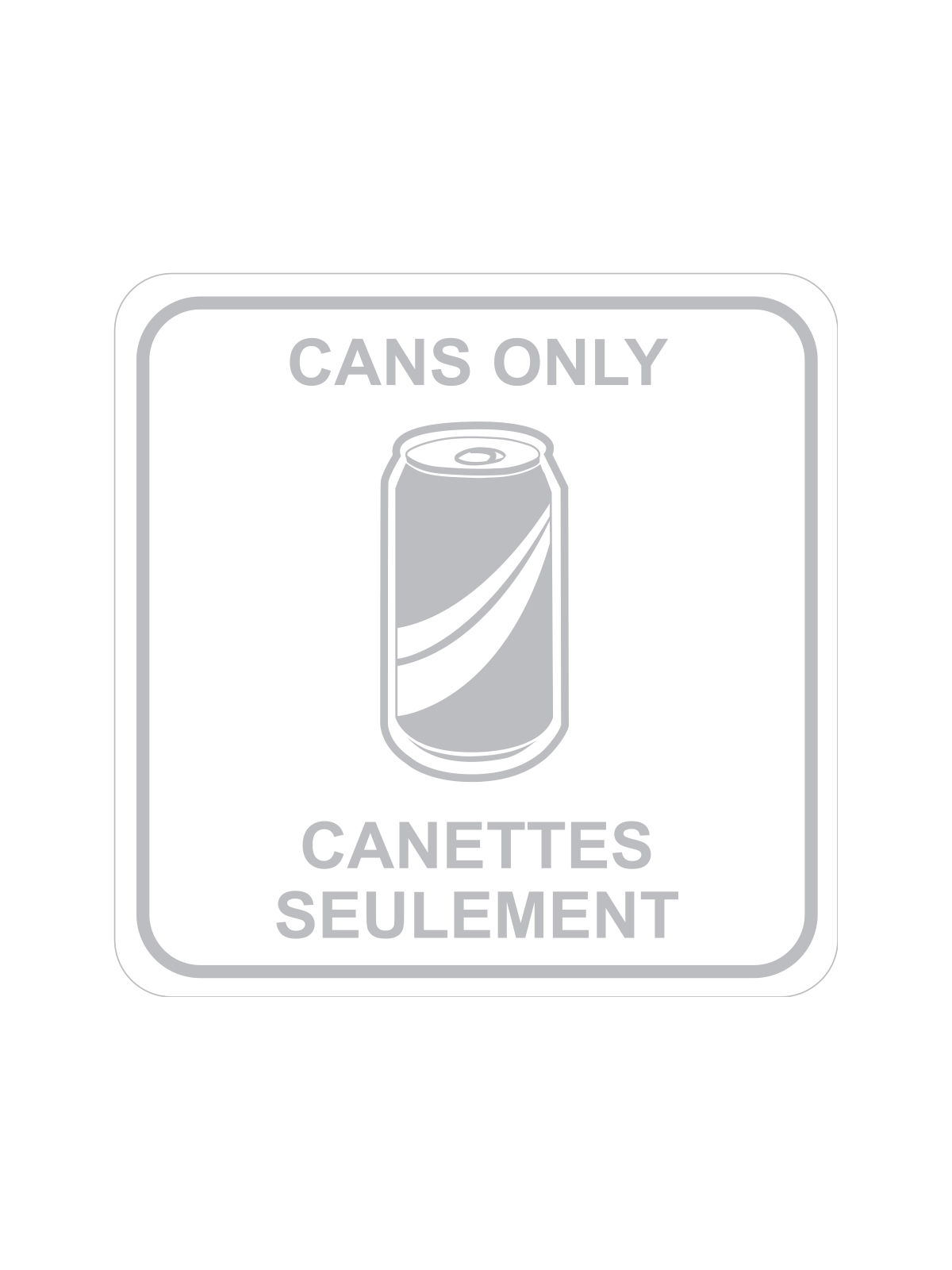SQUARE LABEL CANS ONLY - ENG/FRE title=