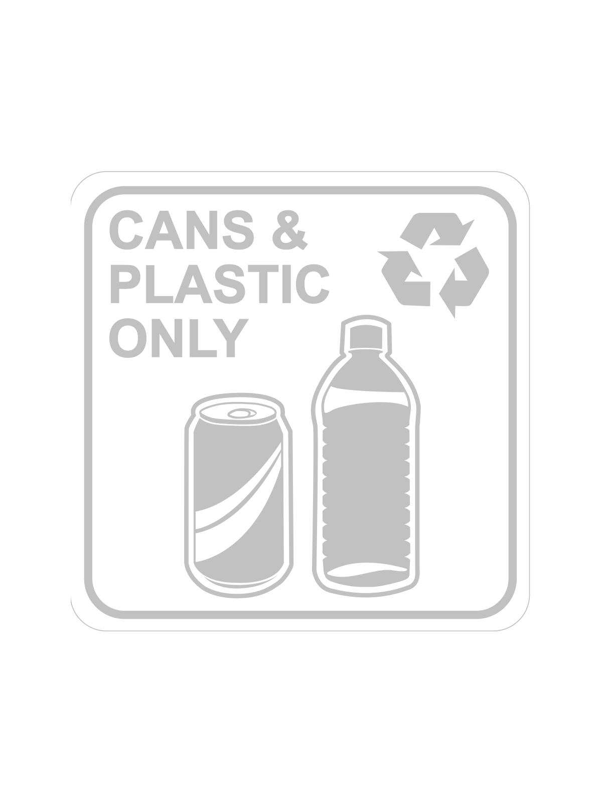 SQUARE LABEL CANS & PLASTIC ONLY