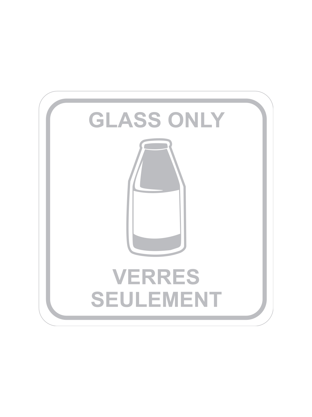 SQUARE LABEL GLASS ONLY - ENG/FRE