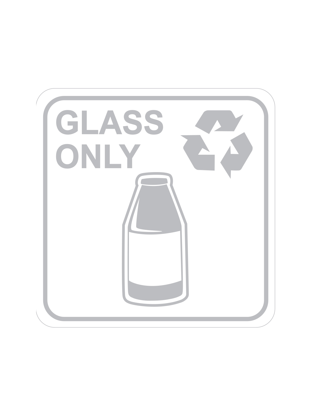 SQUARE LABEL GLASS ONLY