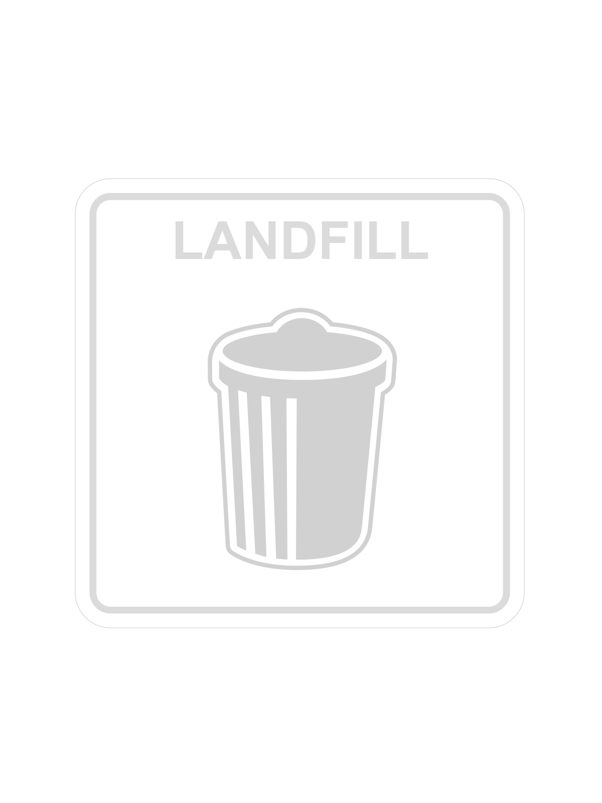 SQUARE LABEL LANDFILL