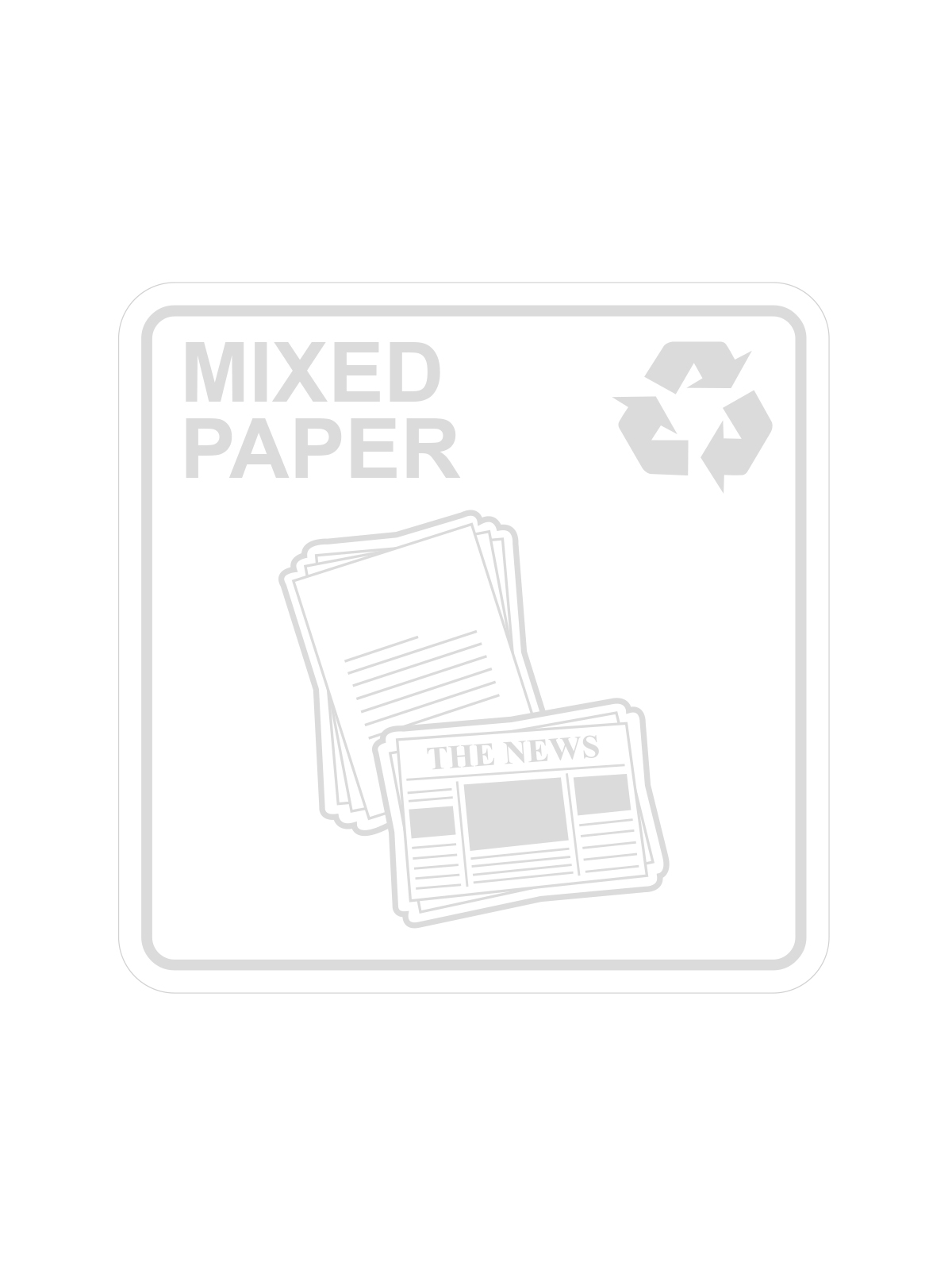 WASTE WATCHER - Label - Mixed Paper - Clear-White