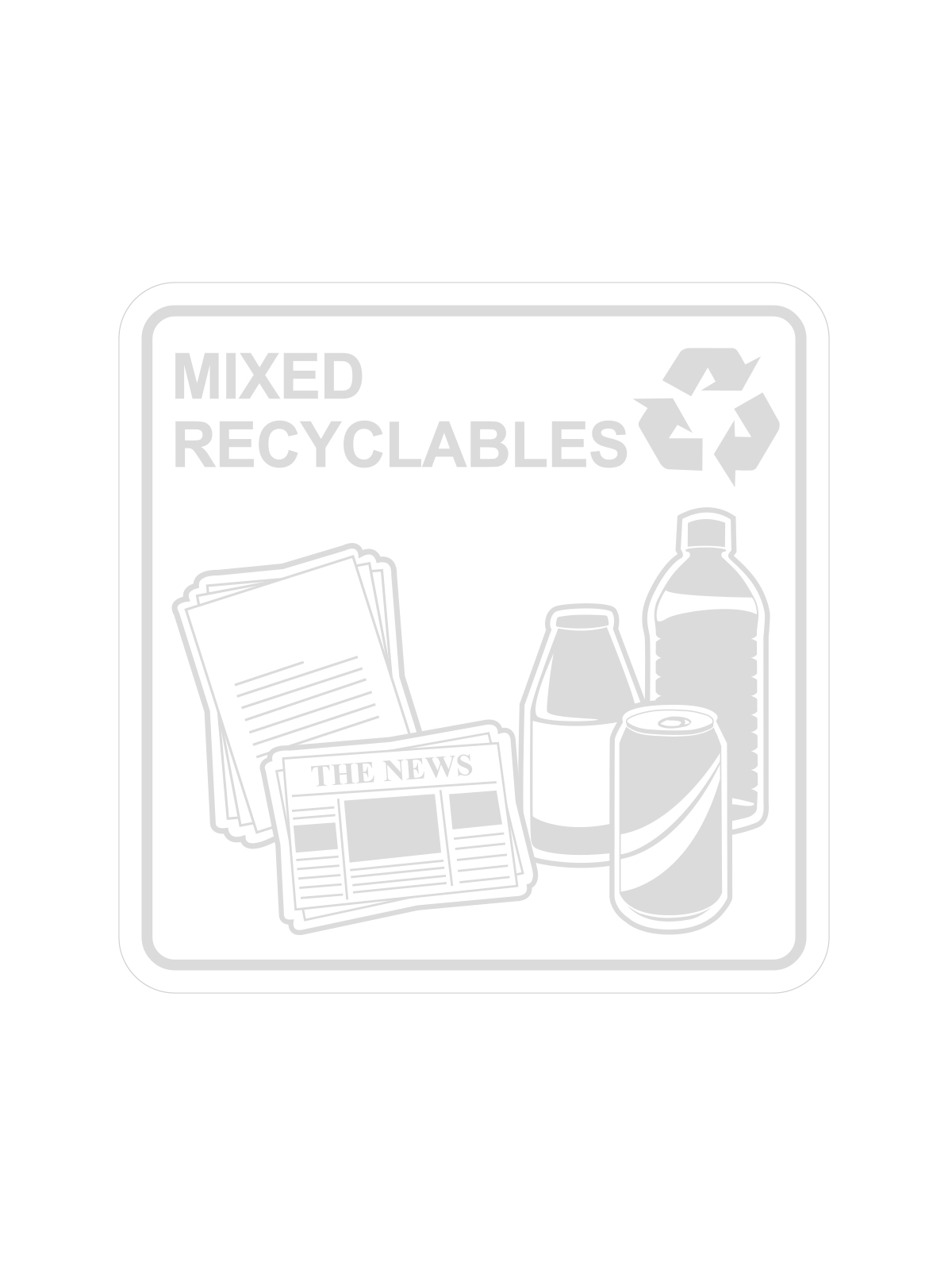SQUARE LABEL MIXED RECYCLABLES