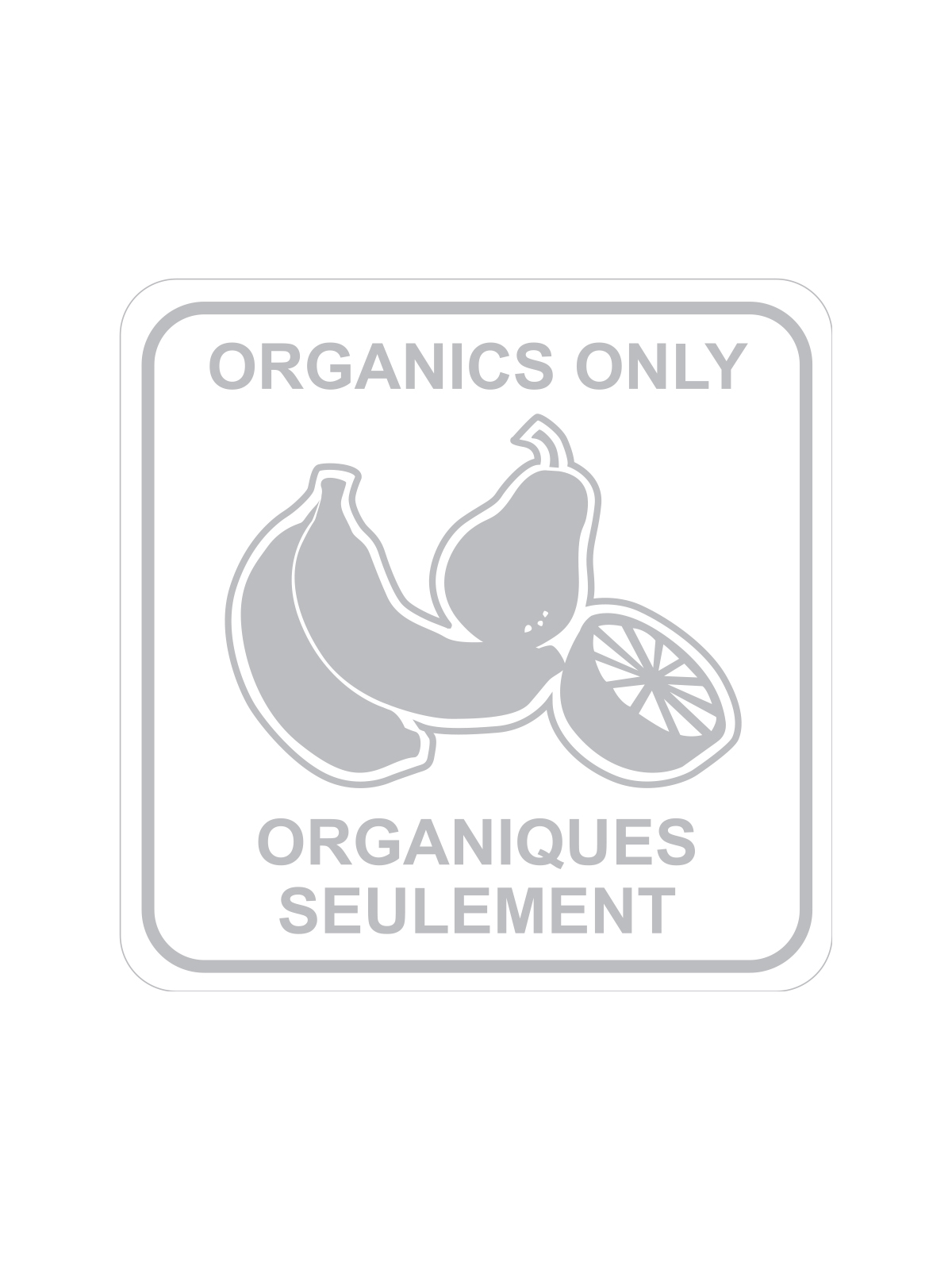 SQUARE LABEL ORGANICS ONLY - ENG/FRE