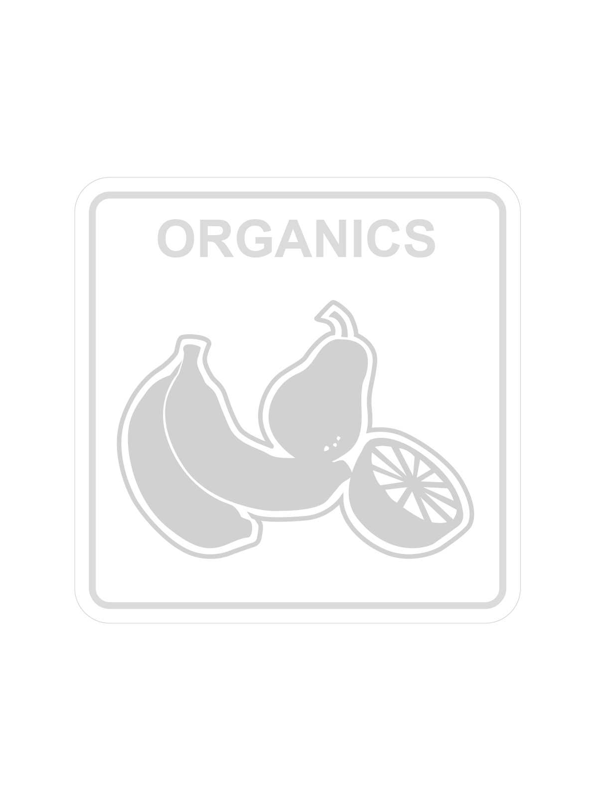 WASTE WATCHER - Label - Organics - Clear-White