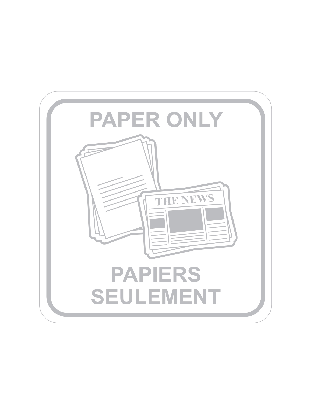 SQUARE LABEL PAPER ONLY - ENG/FRE