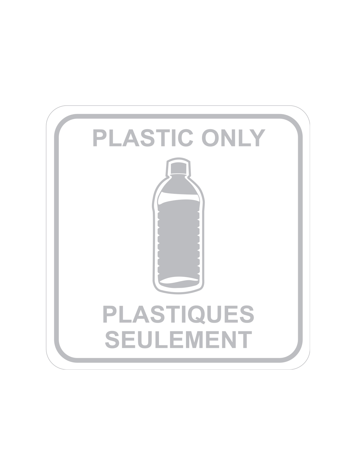 SQUARE LABEL PLASTIC ONLY - ENG/FRE