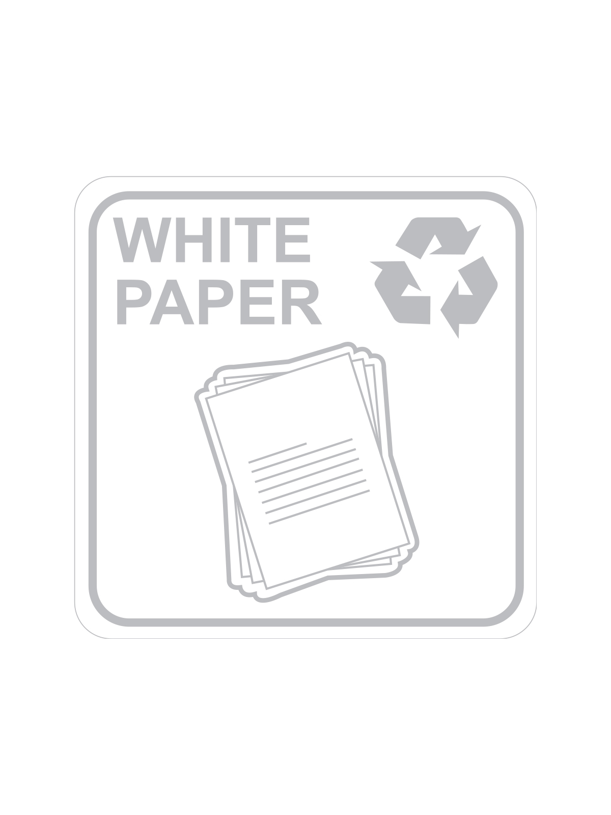 SQUARE LABEL WHITE PAPER ONLY
