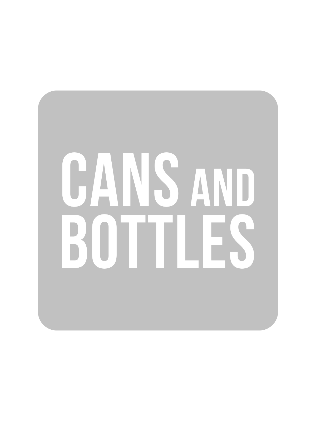 SQUARE LABEL KIDS - CANS & BOTTLES