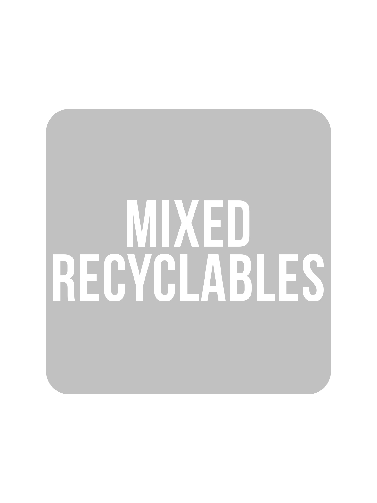 SQUARE LABEL KIDS - MIXED RECYCYLABLES